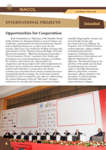 The Institute for Advanced Studies in Levant Culture and Civilization Centre of Excellence of the World Academy of Art & Science newsletter May 2018