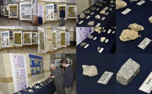 în Holul Senatului UOC au fost expuse posterele prezentate în premieră la Muzeul de Geologie din București în cadrul conferinței din 29 noiembrie 2018
