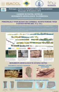 PRINCIPALELE TIPURI DE ROCI DIN CUPRINSUL INCINTEI ROMANE TÂRZII A CETĂȚII HISTRIA (SEC. IV p. Chr.)