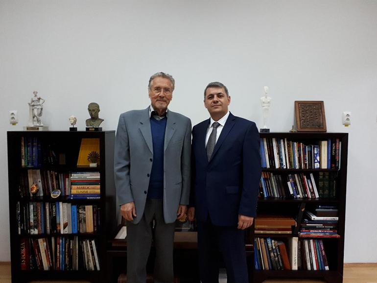 Ambasadorul Armeniei, în vizită la Institutul de Studii Avansate pentru Cultura și Civilizația Levantului, 27 iunie 2018