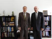 Ambasadorul Georgiei, în vizită la Institutul de Studii Avansate pentru Cultura și Civilizația Levantului, 3 iulie 2018