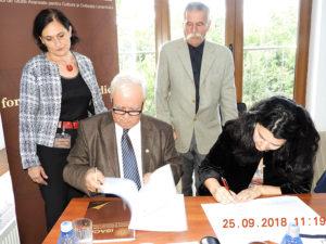 Protocol de colaborare între Institutul de Studii Avansate pentru Cultura și Civilizația Levantului și Institutul de Turcologie al Universității Babeș-Bolyai din Cluj Napoca (25 septembrie 2018)