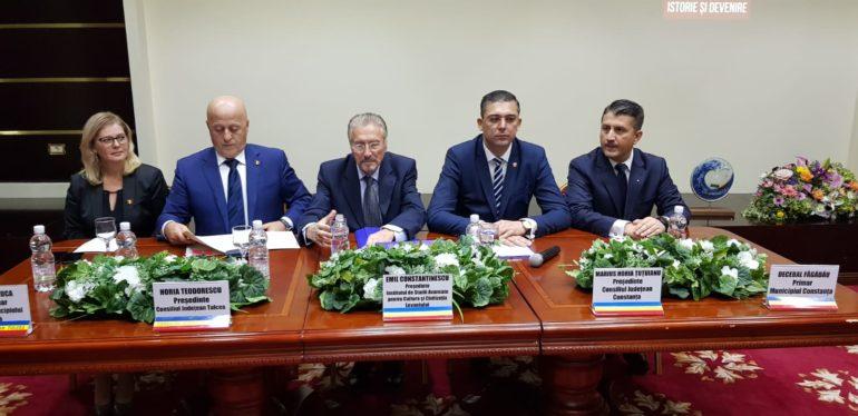 140 de ani de la unirea Dobrogei cu România. Președintele Consiliului Științific al ISACCL, invitat de onoare la ședința comună solemnă a Consiliilor Județene din Tulcea și Constanța