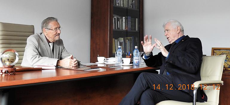 Expertul în politici educaționale Jan Sadlak, la Institutul de Studii Avansate pentru Cultura și Civilizația Levantului