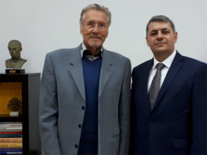 The Ambassador of Armenia visits the Institute for the Advanced Study of the Culture and Civilization of the Levant. June 27, 2018