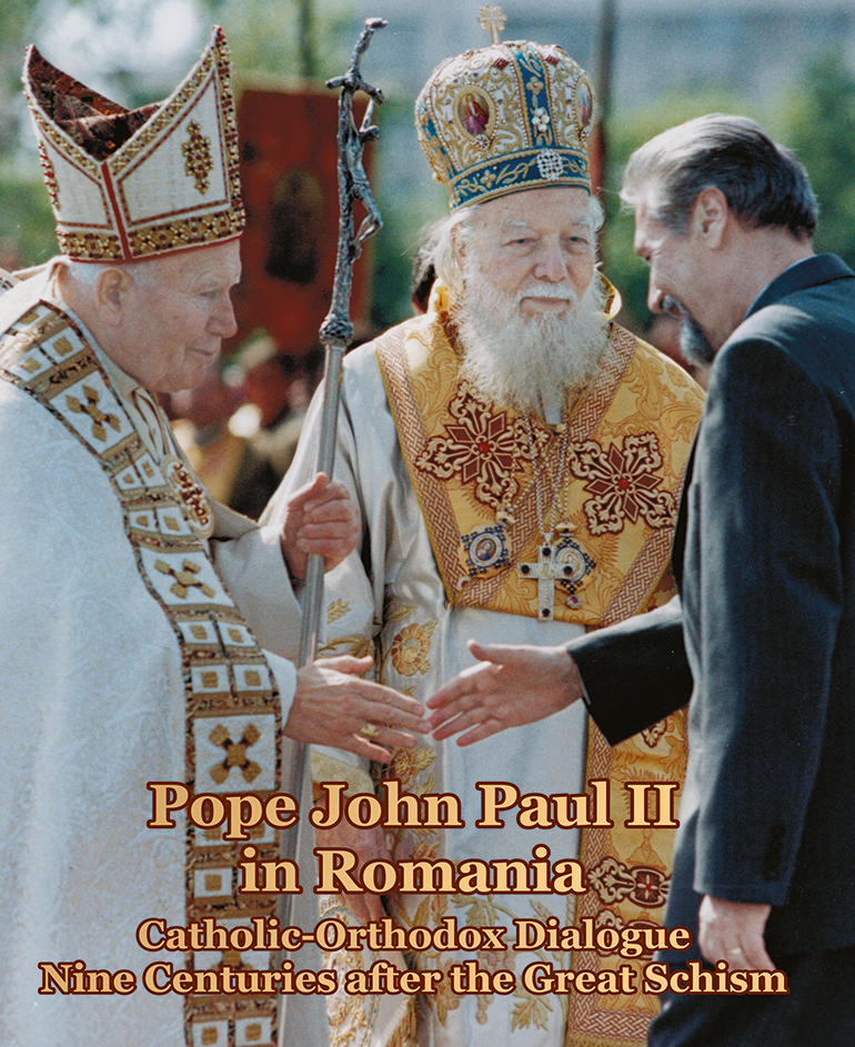 the Institute for Advanced Studies in Levant Culture and Civilization announces the launch of a volume titled Pope John Paul II in Romania: Catholic-Orthodox dialogue nine centuries after the Great Schism