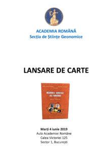 Lansarea Trilogiei Resursele minerale ale României Vol. III - Resurse energetice Coordonatori: Emil Constantinescu ◦ Nicolae Anastasiu
