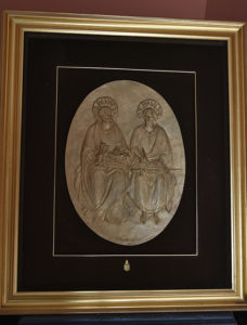 Icoană a Sfinților Apostoli Petru și Pavel, primită din partea Papei Ioan Paul al II-lea