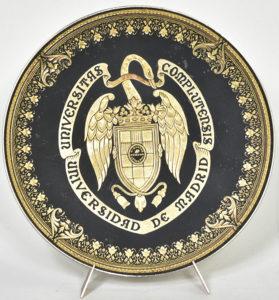 Plachetă din bronz, din partea Universității din Madrid, Spania