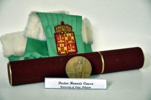 Diplomă și medalie Doctor Honoris Causa, din partea Universității din Liége, Belgia