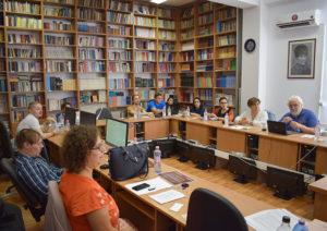 Lect. univ. dr. Manuela Dobre (Universitatea din București) a susținut prezentarea cu titlul Space and Ideology in 15th century Byzantine Sources