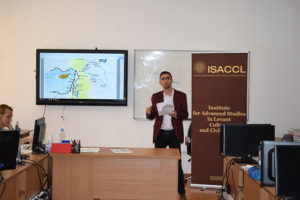 Cătălin-Ștefan Popa, cercetător în cadrul ISACCL, a susținut prezentarea cu titlul Creștinii și crearea granițelor dintre Bizanț și Persia în Antichitatea târzie