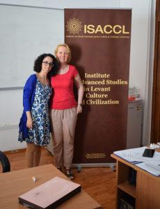 Simona Deleanu (ISACCL) și Paraskevi Sykopetritou (Universitatea din Viena)