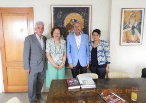 Președintele Consiliului Științific al ISACCL, prof. dr. Emil Constantinescu, a efectuat o vizită de lucru la sediul Institutului de Studii Balcanice din Salonic