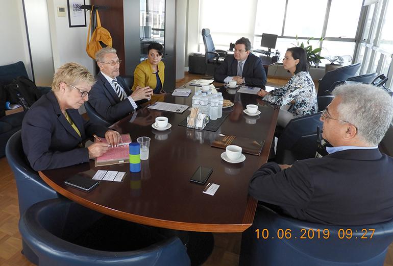 Întâlnire cu rectorul Universității Aristotel din Salonic, prof. univ. dr. Perikles A. Mitkas