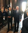 Emil Constantinescu a participat la funeraliile președintelui francez Jacques Chirac