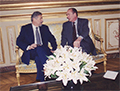 5 februarie 1997, Emil Constantinescu și Jaques Chirac la Palatul Elysée