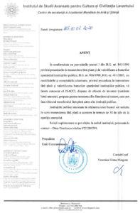 Anunț • obiecte de inventar propuse pentru scoaterea din funcțiune și casare la ISACCL la data de 10 februarie 2020