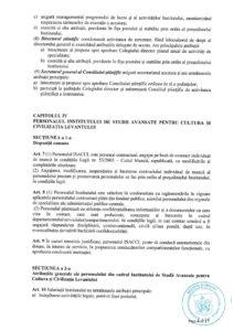 Organigramă și ROF Institutul de Studii Avansate pentru Cultura și Civilizația Levantului