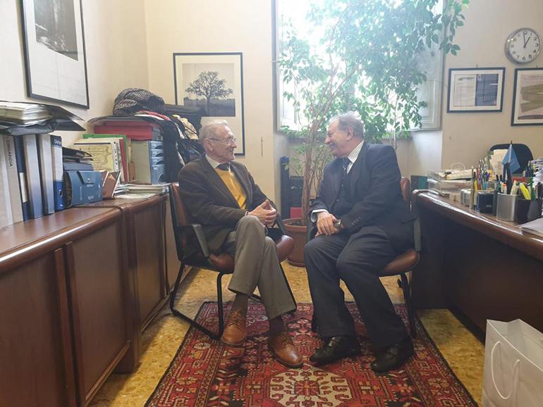 Parteneriate în Italia - Emil Constantinescu a avut o serie de întâlniri și discuții cu reprezentanți ai Universității Sapienza din Roma