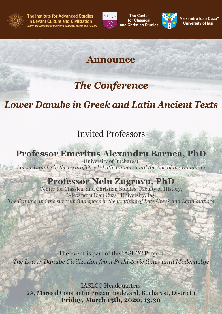 """The conference """"The Lower Danube in Greek-Latin texts"""""""
