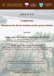 """Conferința""""Dunărea de Jos în textele greco-latine"""""""