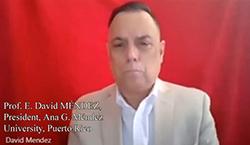 "Prof. David E. Mendez, președintele Universității ""Ana G. Mendez"", Puerto Rico: Redefinirea conceptul de <colaborare>"