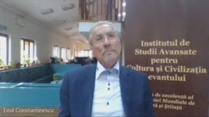 Emil Constantinescu, președintele Institutlui de Studii Avansate pentru Cultura și Civilizația Levantului