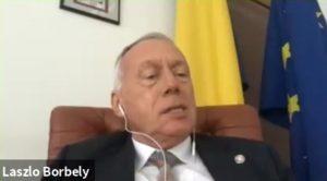 László Borbély (cadru didactic asociat la Universitatea Babeș-Bolyai din Cluj-Napoca, consilier de stat, coordonator al Departamentul de Dezvoltare Durabilă al Guvernului României, președinte al celei de-a XIX-a sesiuni a Comisiei ONU de Dezvoltare Durabilă 2010-2011)