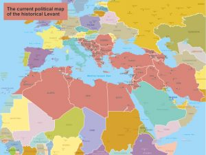 The current political map of the historical Levant