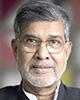 Kailash Sastyarthi Laureat al Premiului Nobel pentru Pace (2014); Fondator al Bachpan Bachao Andolan, Marșul Global împotriva Exploatării Copiilor prin Muncă și al Campaniei Mondiale pentru Educație