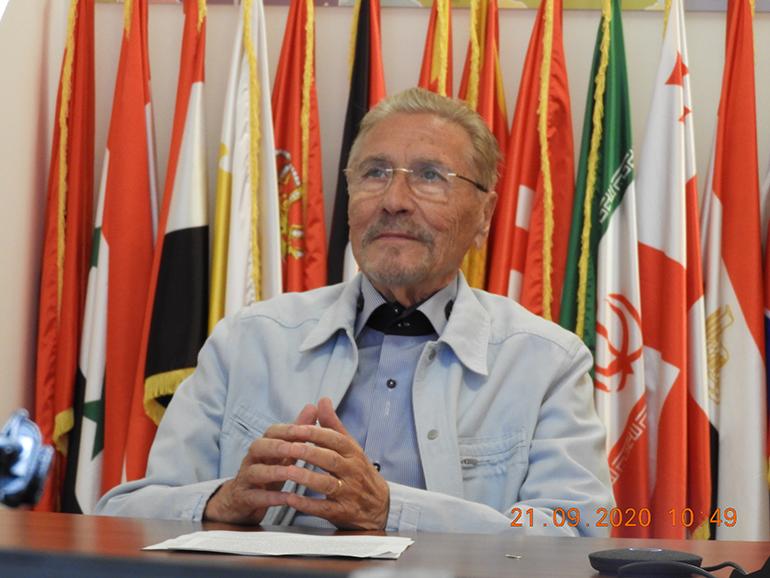 Prof. emerit Emil Constantinescu, președintele Institutului de Studii Avansate pentru Cultura și Civilizația Levantului