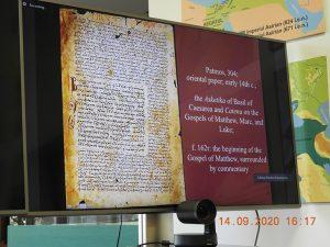 Școala Anuală de Studii Bizantine și Postbizantine - 2020, ziua 4