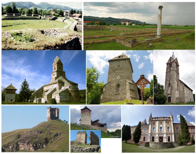 Hațeg Country cultural monuments. Sarmizegetusa Ulpia Traiana, the capital of the Roman province Dacia