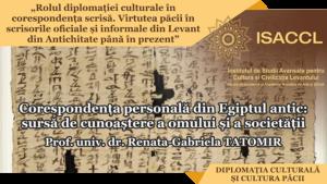 Corespondența personală din Egiptul antic: sursă de cunoaștere a omului și a societății